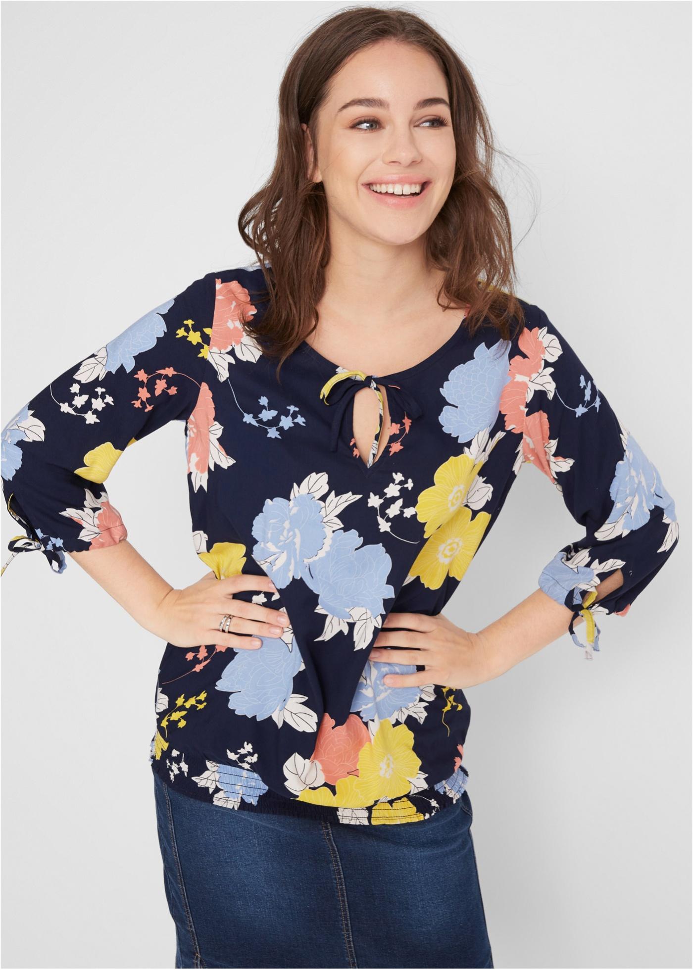 Bonprix Gedessineerde blouse van viscose