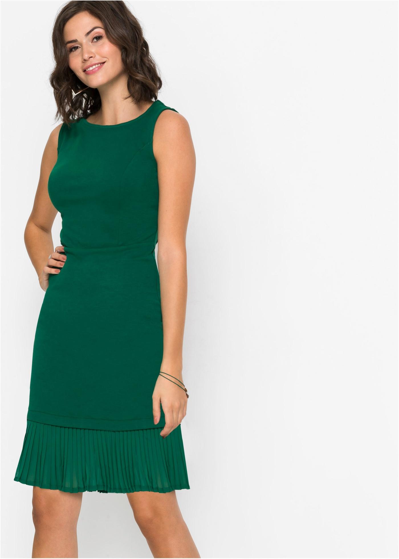 Jersey jurk met plissé