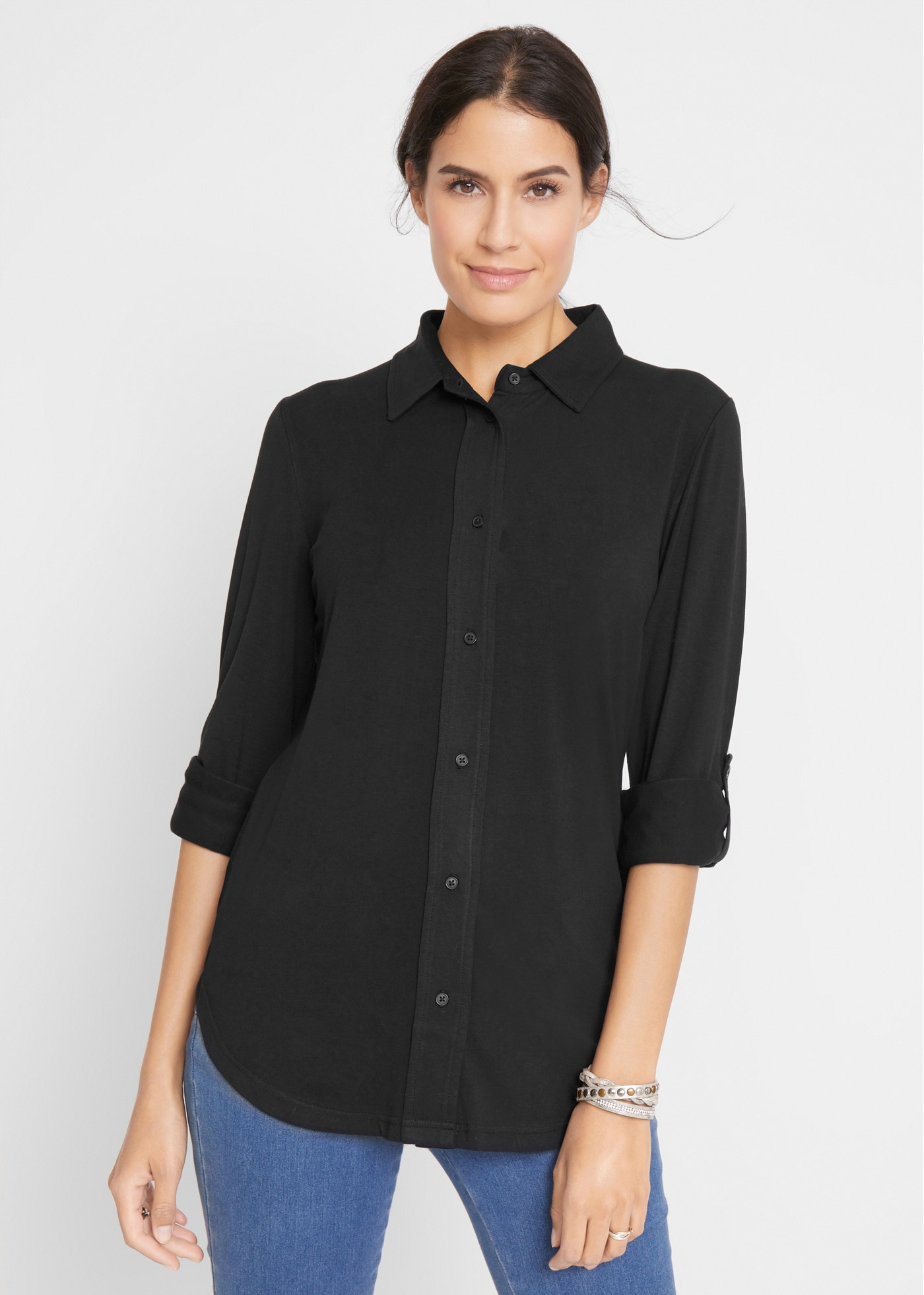 Bonprix Jersey blouse, lang