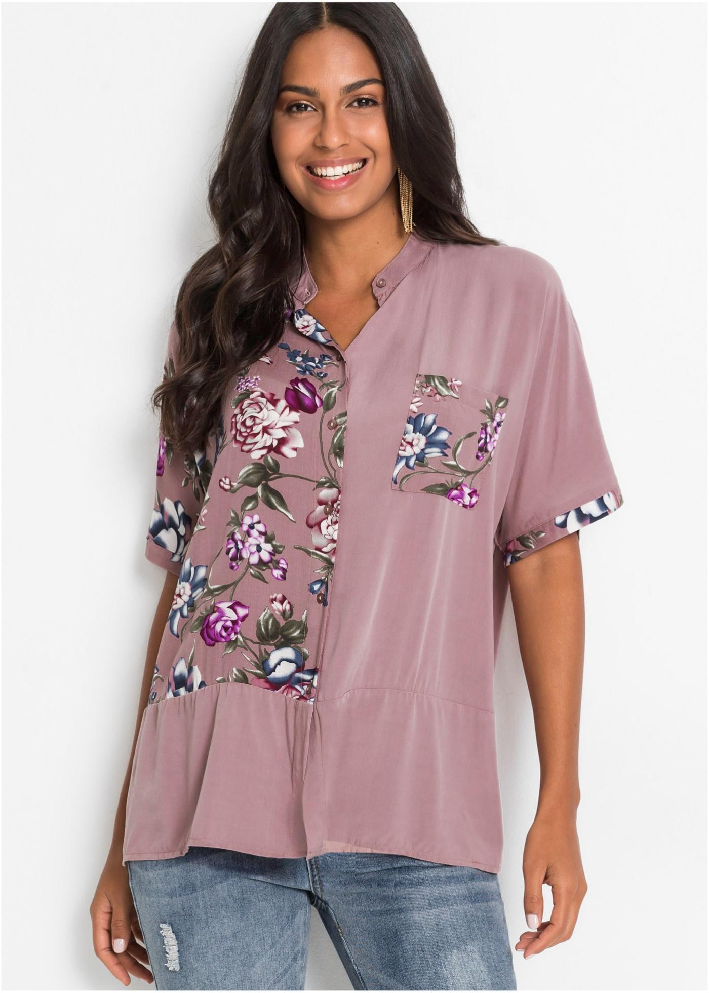 Bonprix Oversized blouse met print