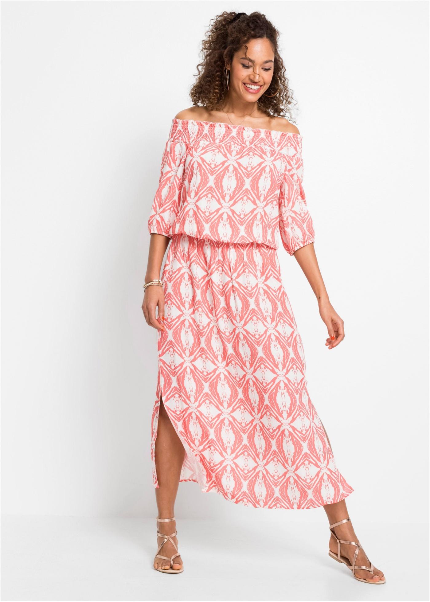 Bonprix Gedessineerde carmen jurk