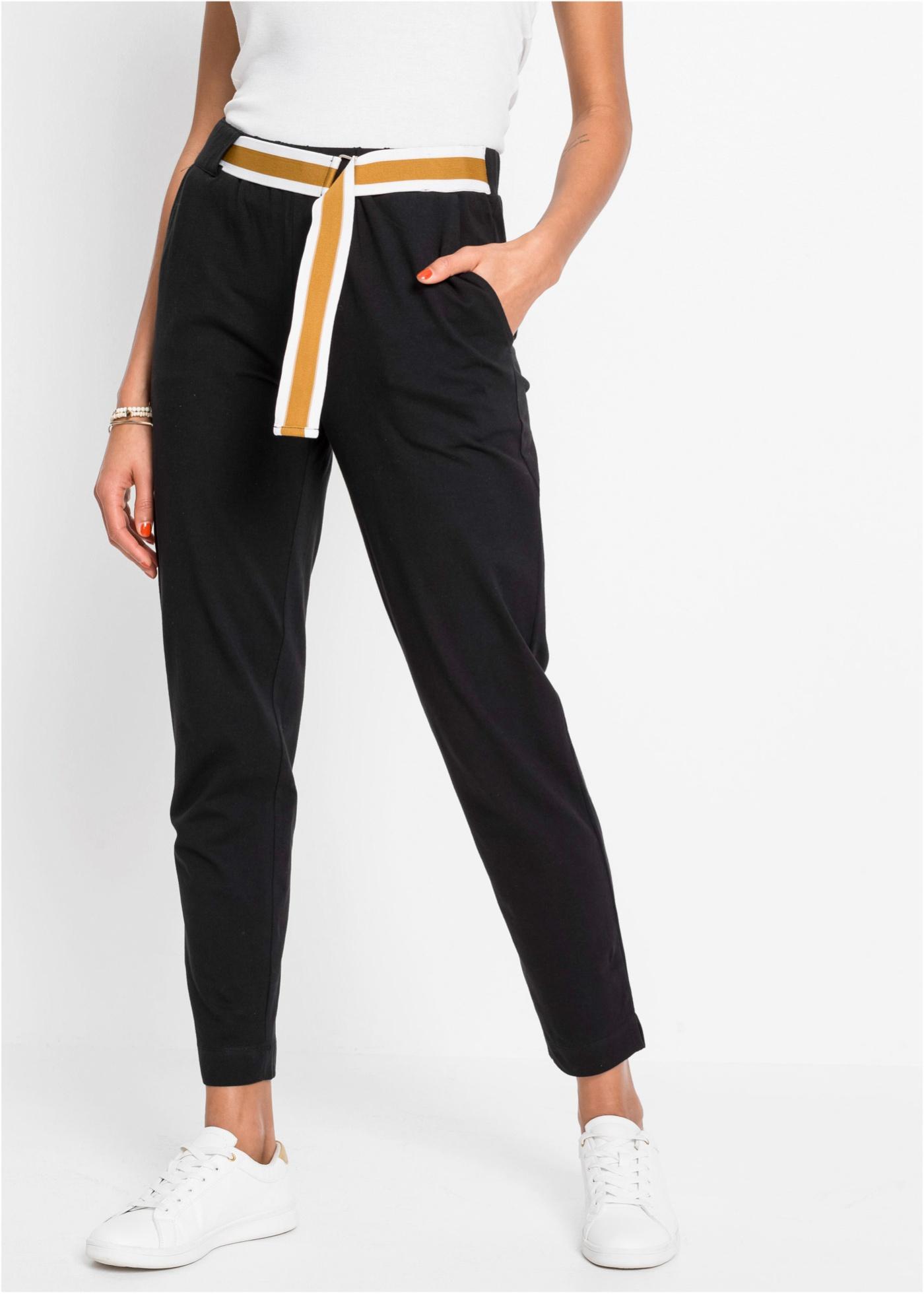 Bonprix Jersey broek met riem