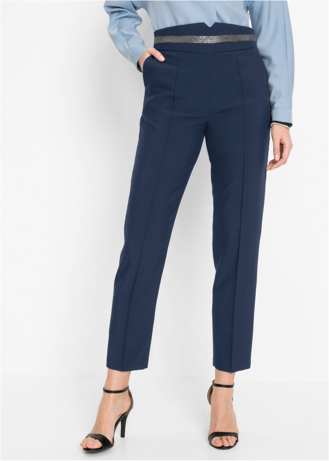 Bonprix Jersey broek met sierband