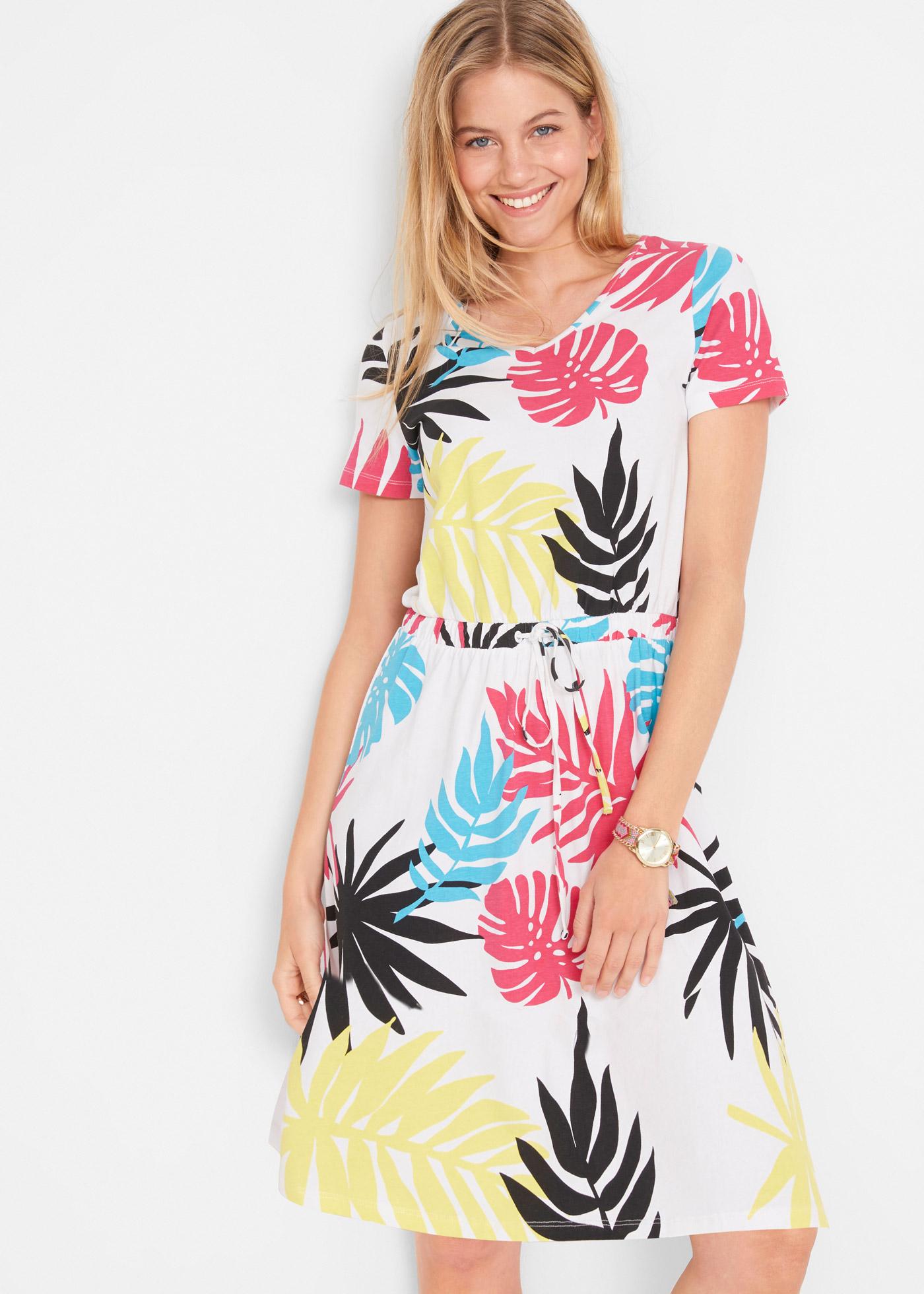 Jurk met palmbladeren