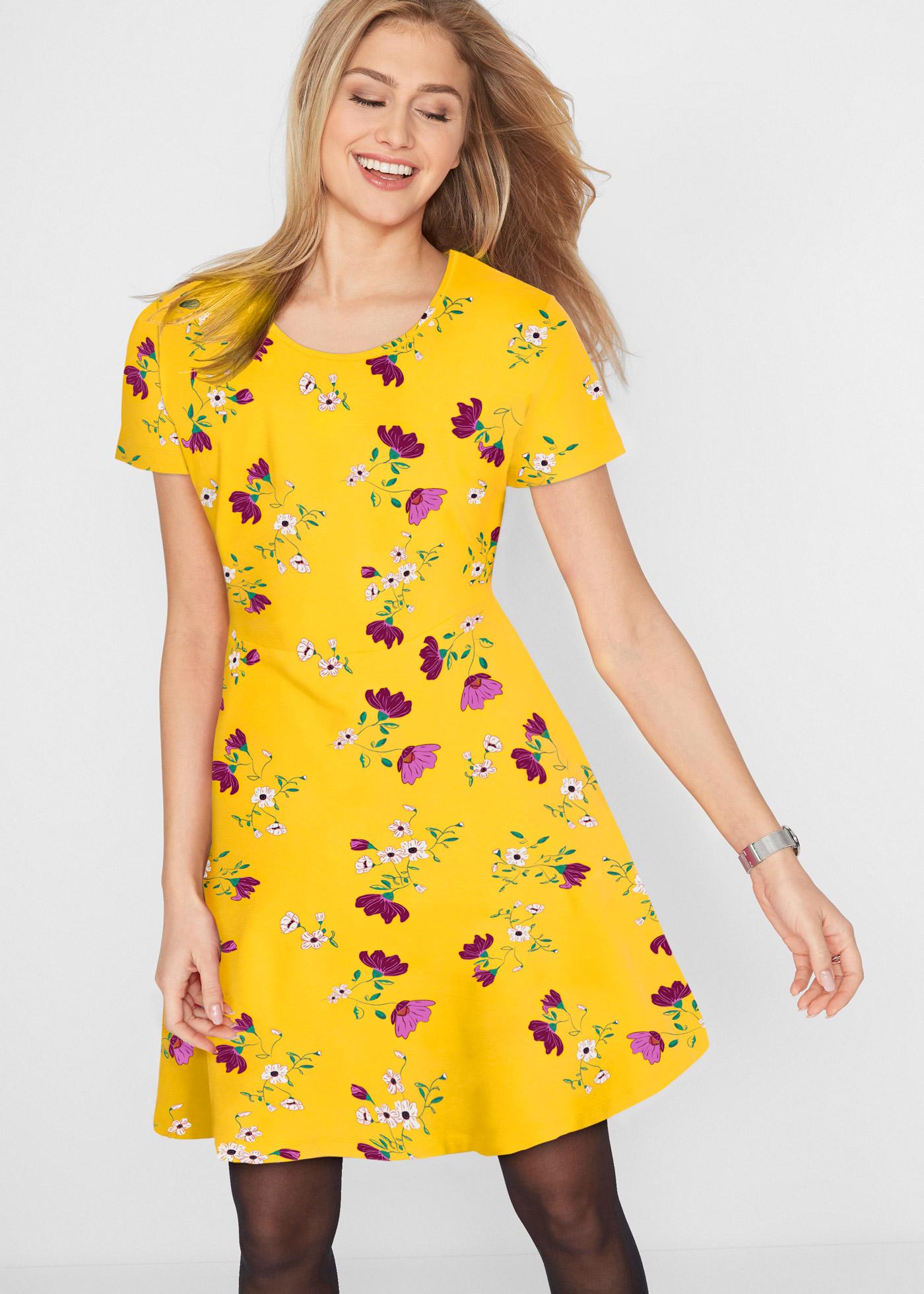 Bonprix Shirtjurk met bloemenprint, korte mouw