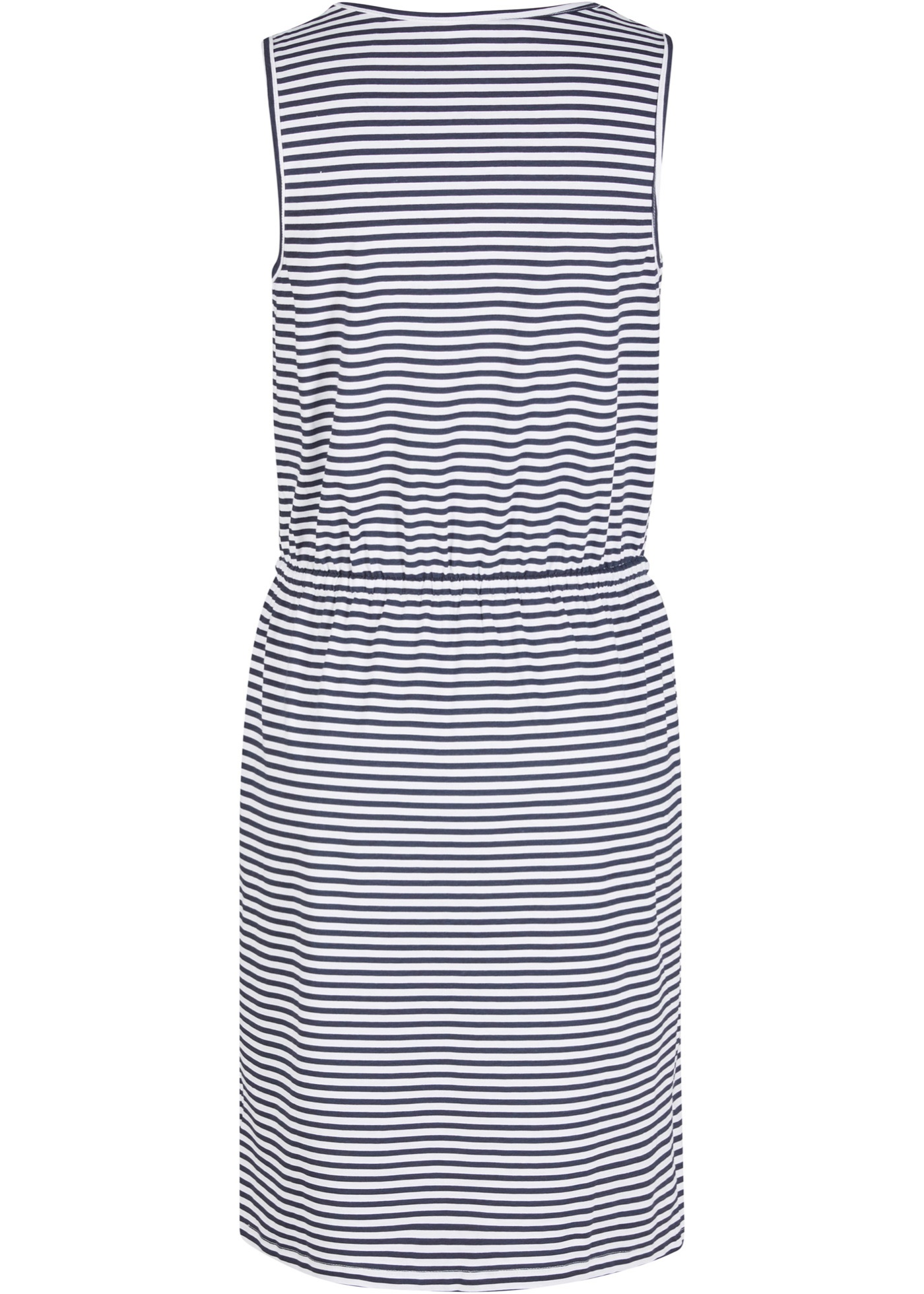 Jersey jurk met knoopsluiting