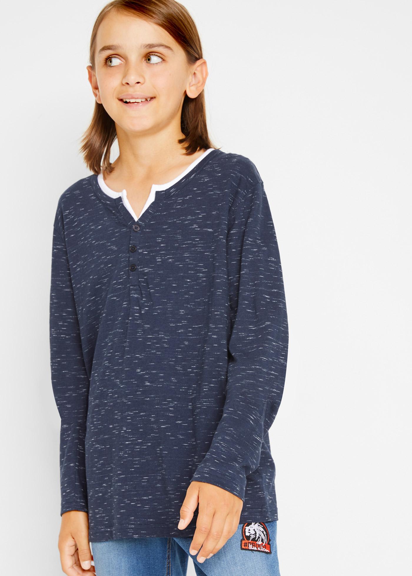 Bonprix Henley shirt in layerlook