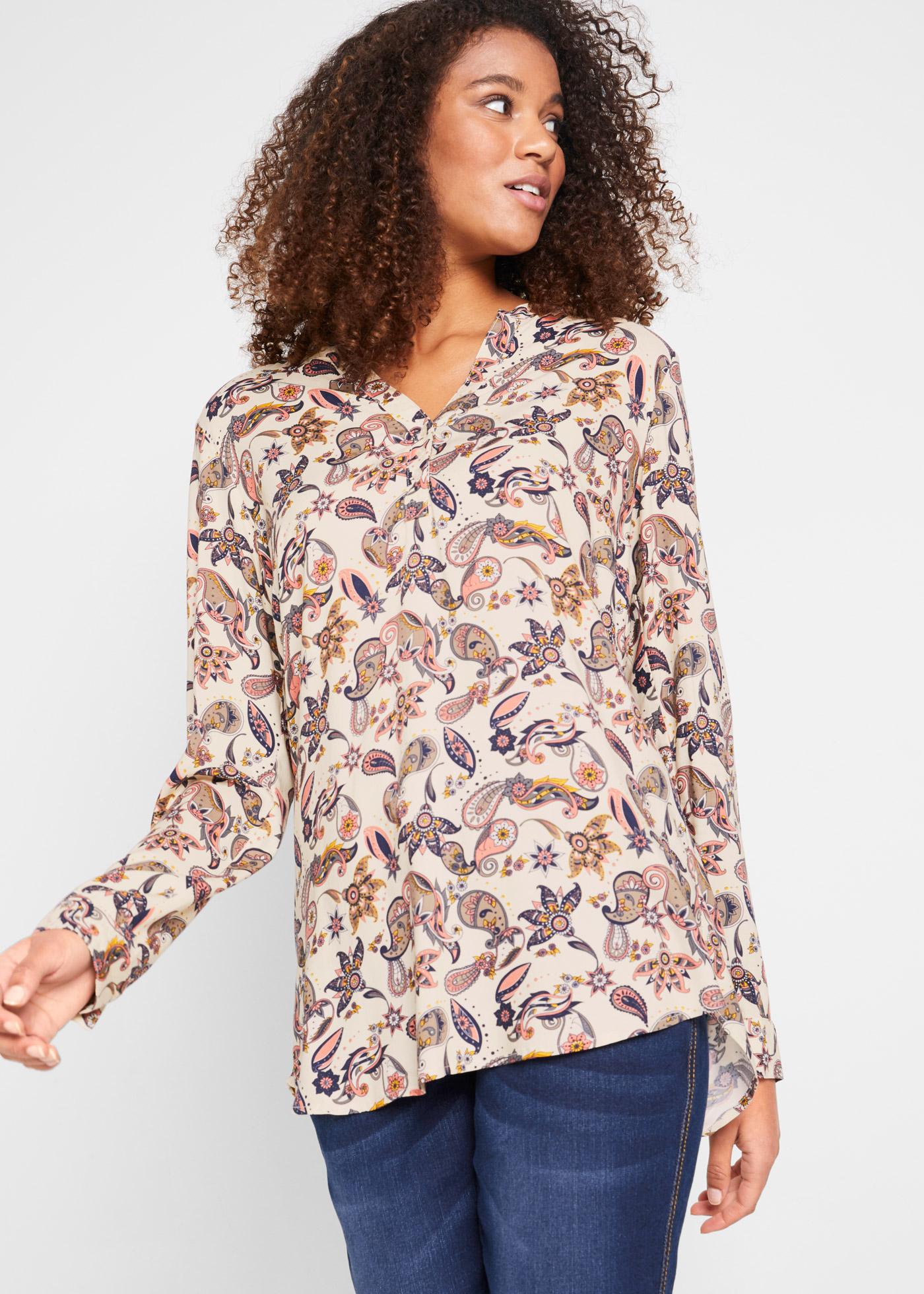 Bonprix Henley blouse, lange mouw