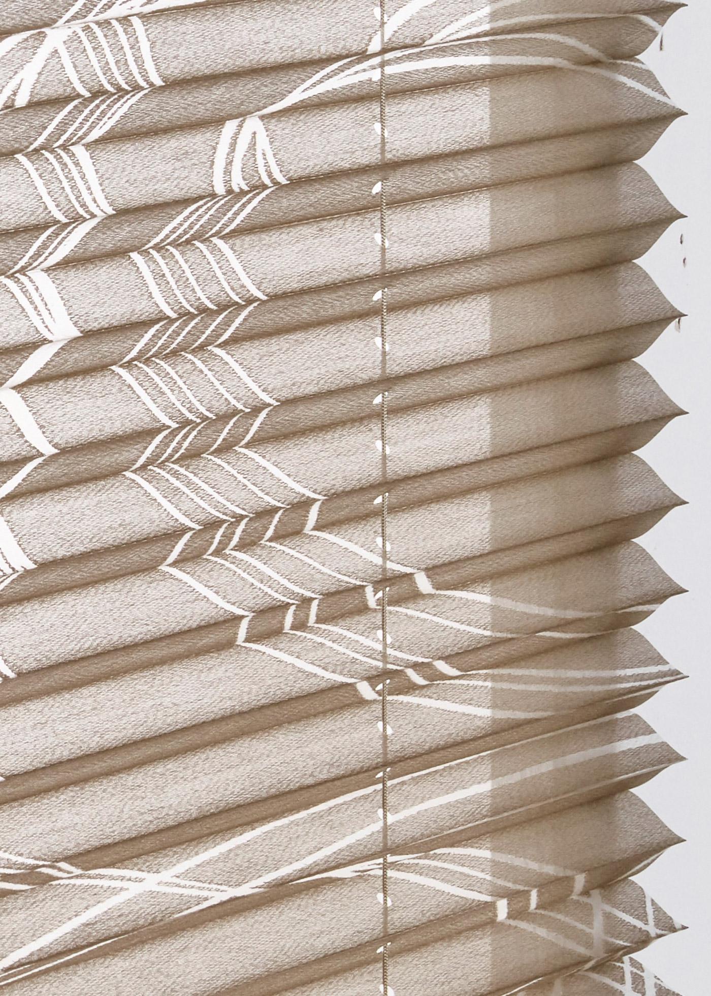Ausbrenner plisségordijn met patroon