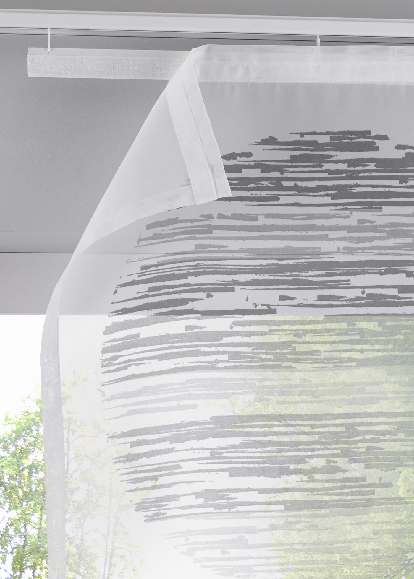 Paneelgordijn Cirkel (1 stuk), klittenbandrail