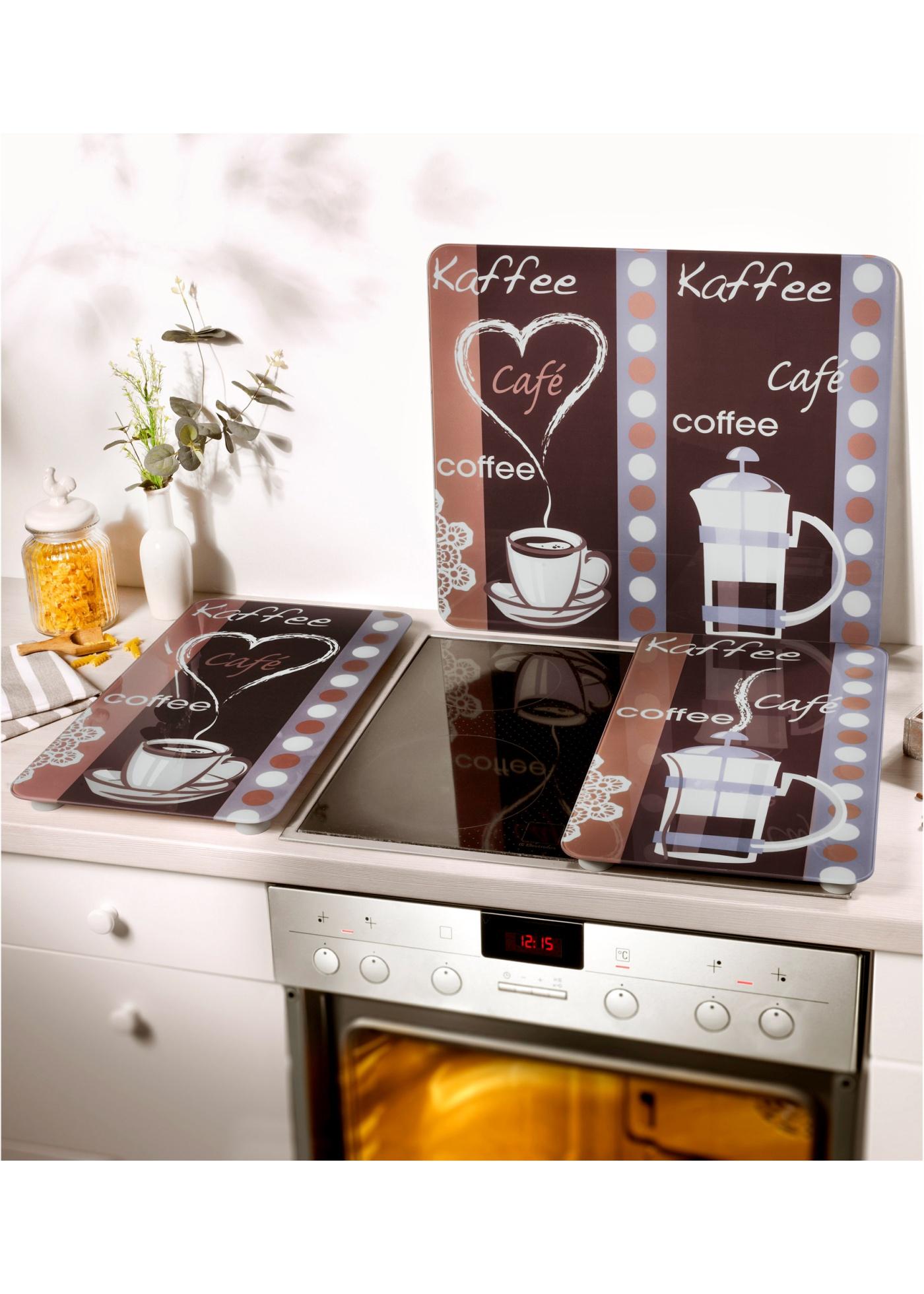 heine home Unisex Afdekblad voor kookplaat bruin