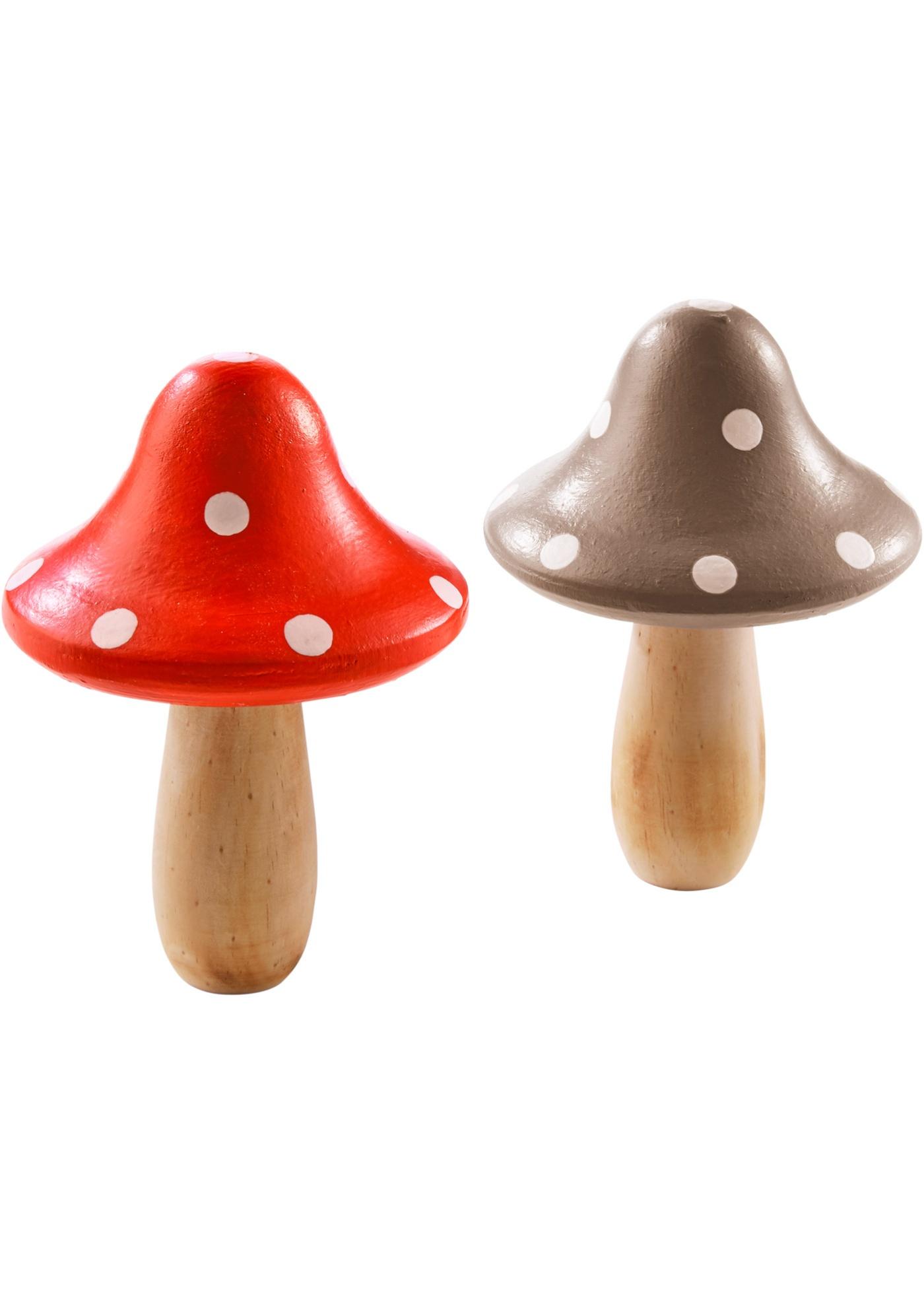 Decoratieve paddenstoelen (set van 2)