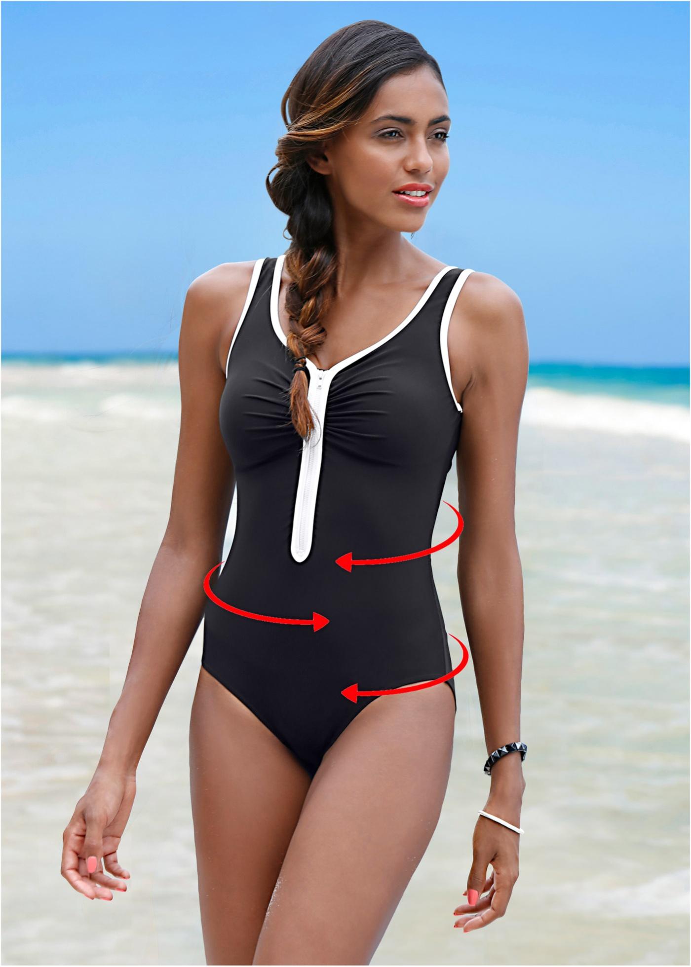 Dit corrigerende badpak van bpc is perfect voor je volgende strandvakantie. het is gemaakt van modellerend ...