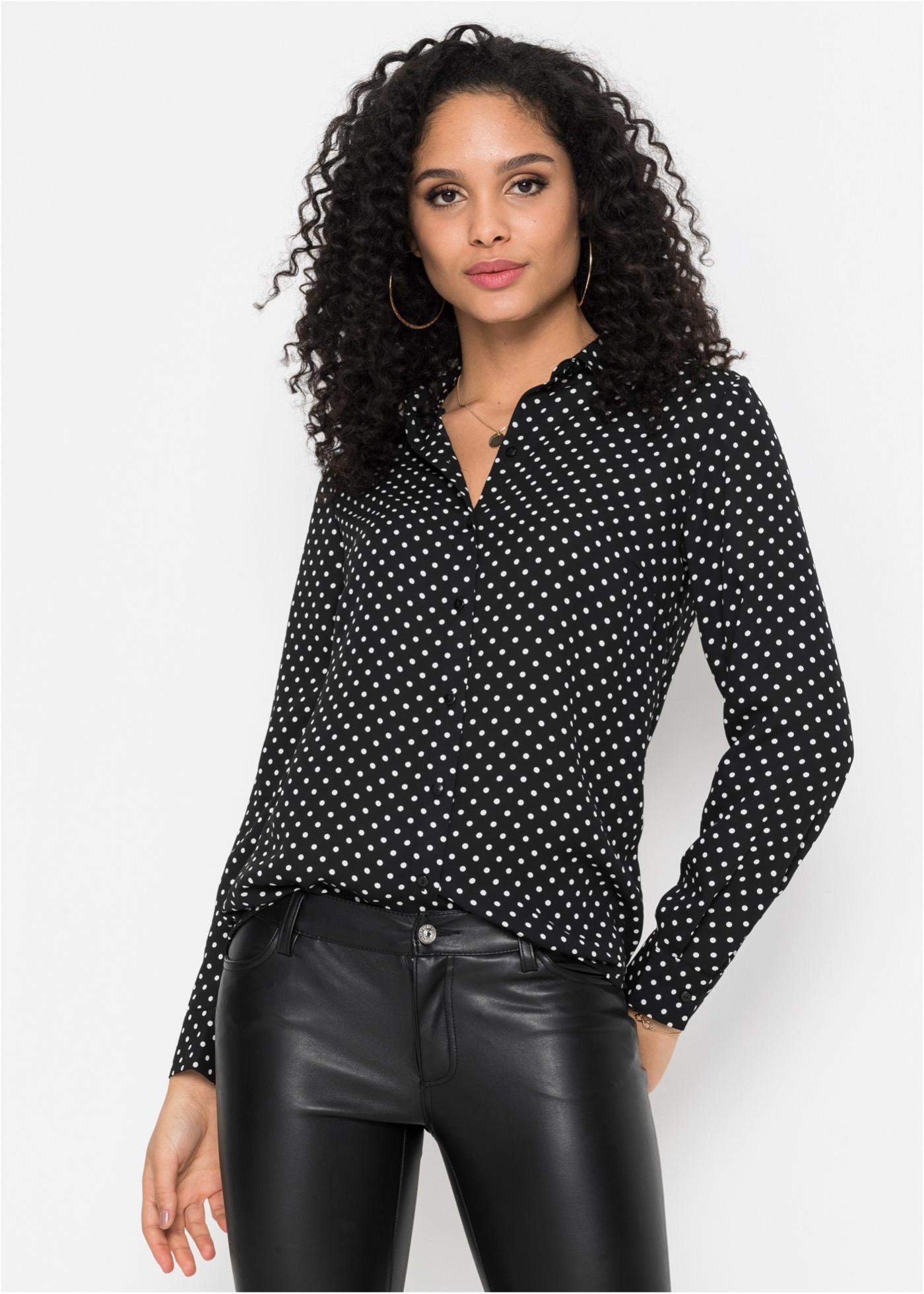 Bonprix Gestippelde blouse