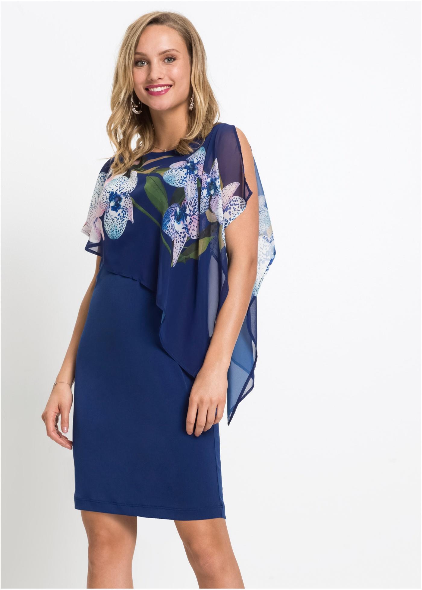 Jurk, Deze lichte jurk is dankzij het modieuze laagje chiffon een echte eyecatcher. Perfect voor overdag maar ook voor 's avonds. Lengte in mt. 36/38 ca. 90 cm.Extra gegevens:Merk: bonprixVoorraad: In StockVerzendkosten: 4.95Maat/Maten: 32/34Levertijd: 7 dagen