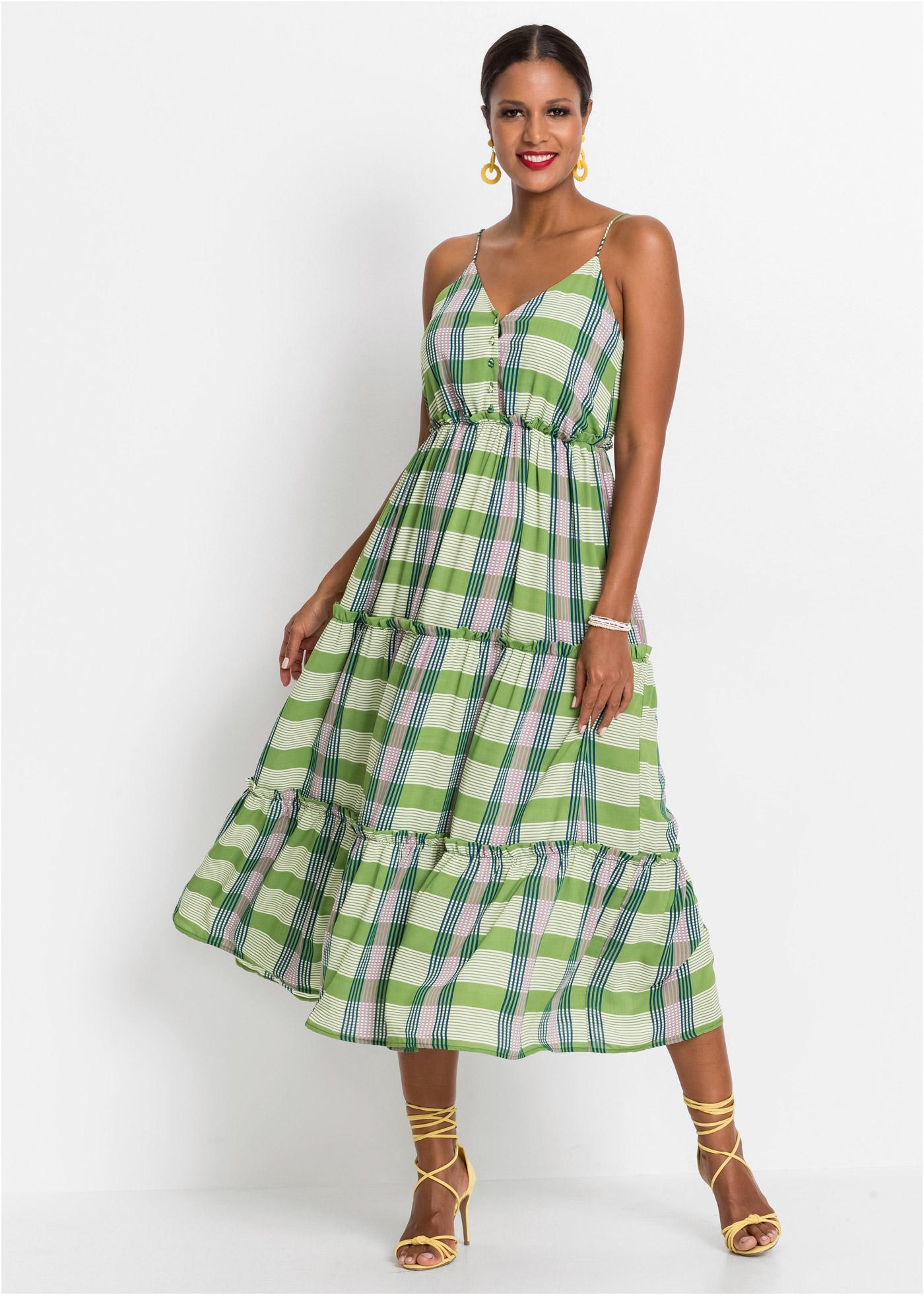 Midi jurk met knoopsluiting