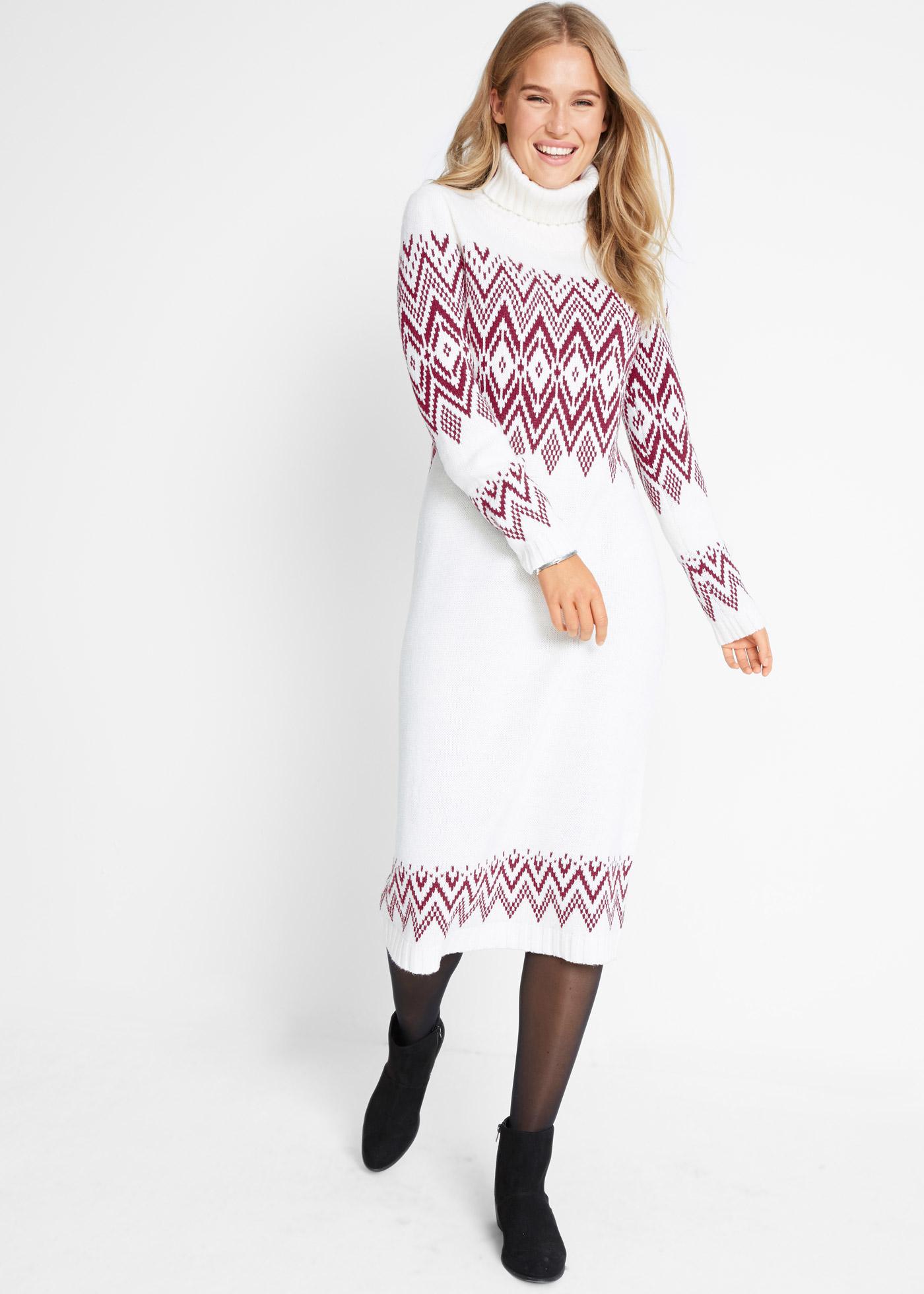 Bonprix Maxi jurk met Noors patroon