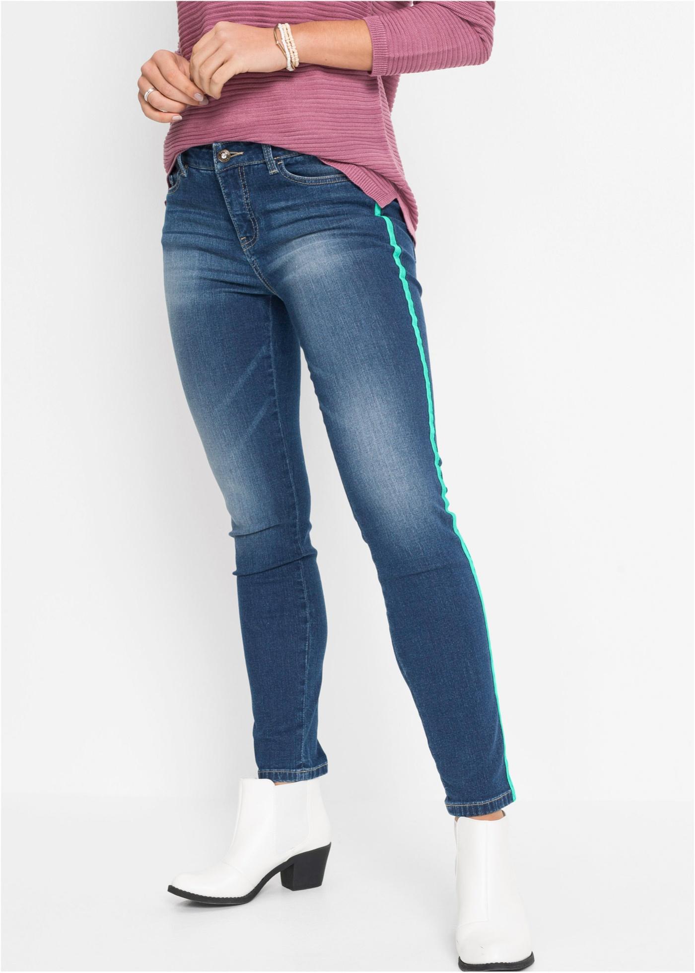 Skinny jeans met tapes