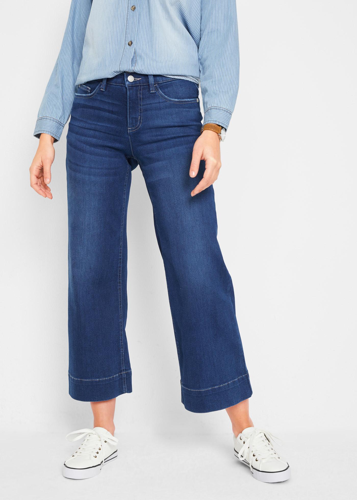 Supersoft stretch jeans culotte