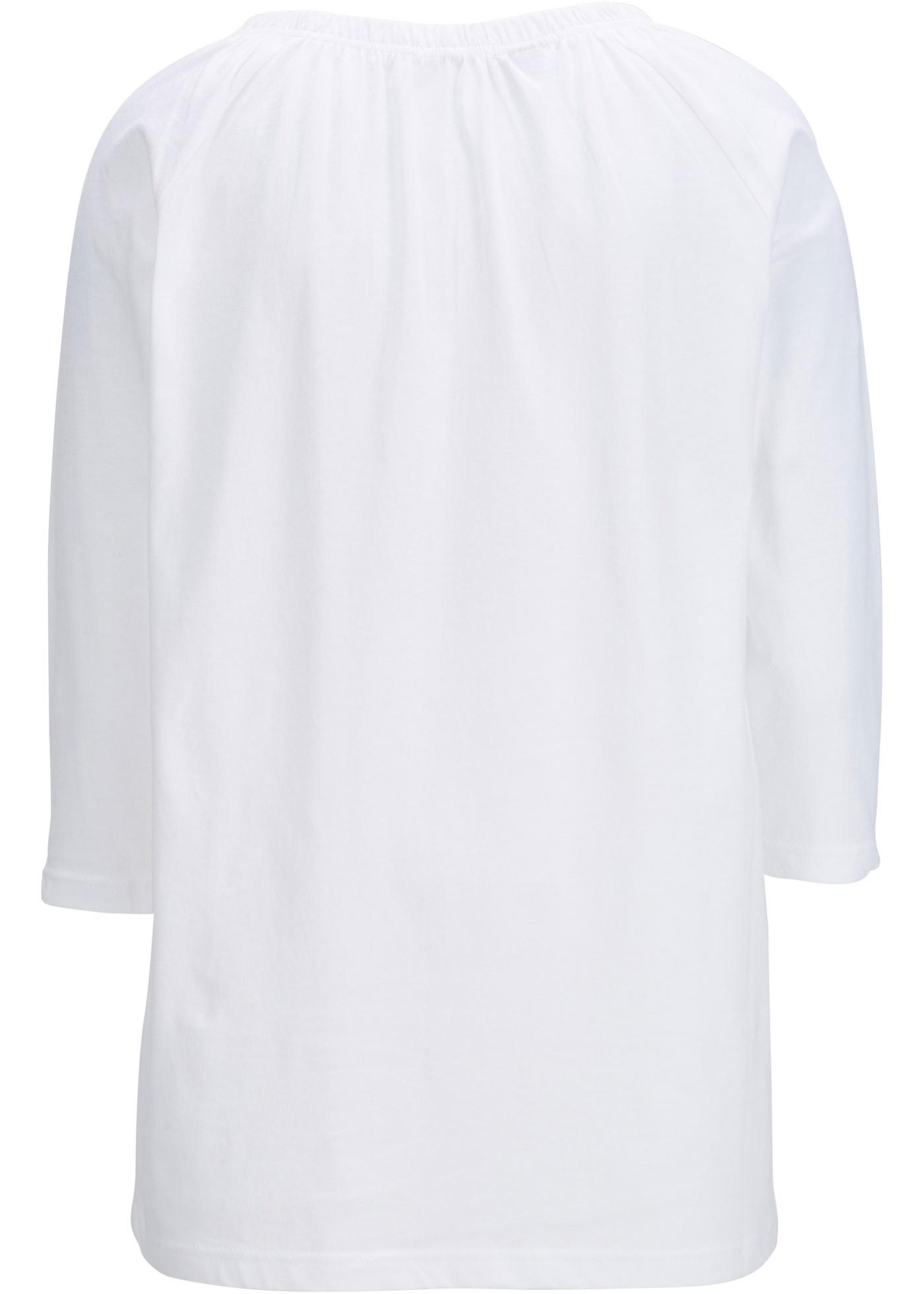 Bonprix Katoenen shirt in A-lijn, 3/4 mouw