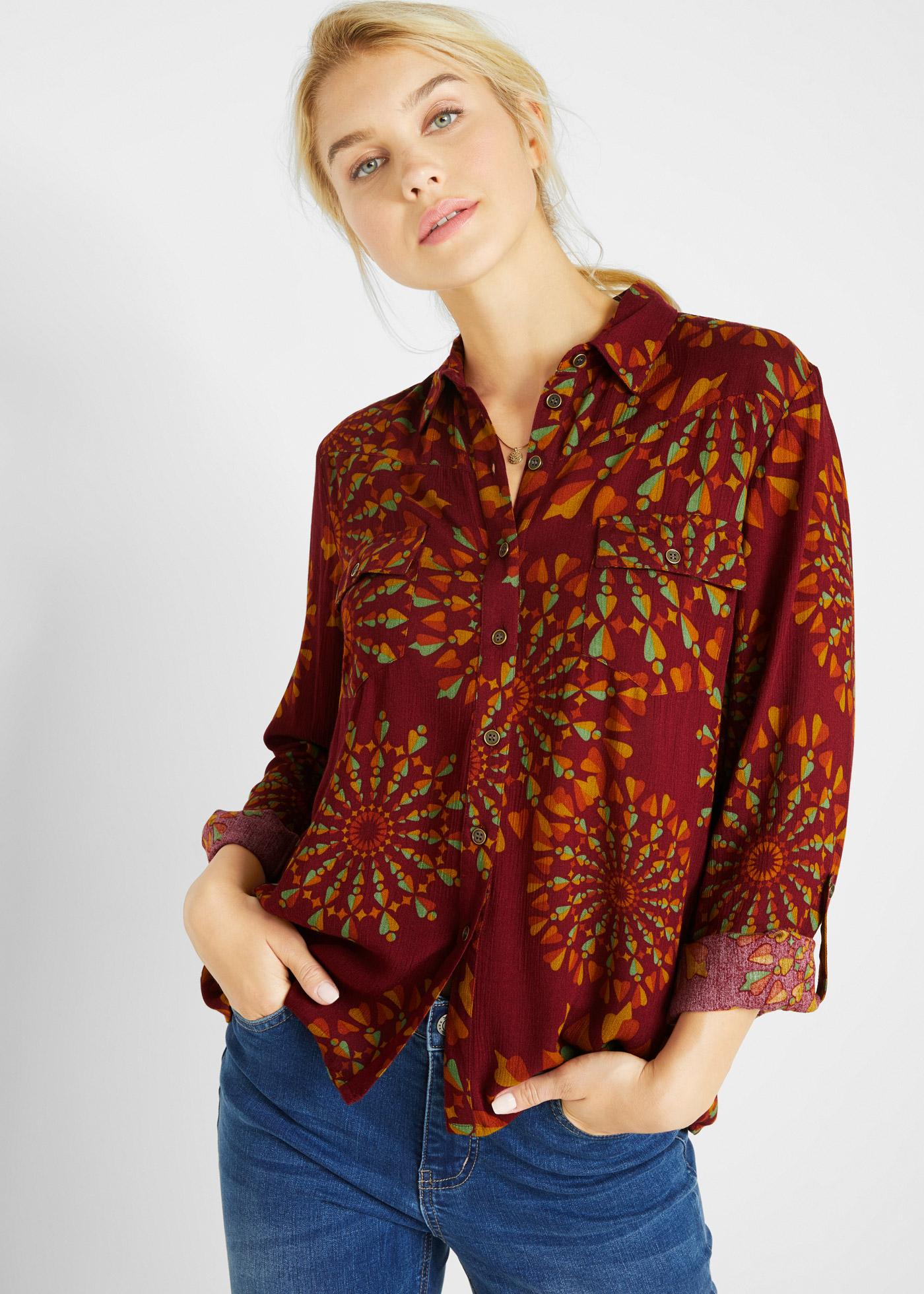 Bonprix Crinkle blouse met print
