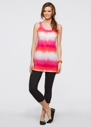 Jurk+legging (2-dlg. set), bpc bonprix collection, lichtpink/wit gedessineerd+zwart