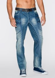 Jeans regular fit straight, RAINBOW, blue denim used