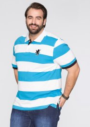 Poloshirt, bpc selection, turkoois/wit gestreept