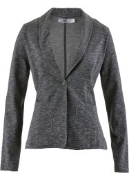 Sweatblazer, bpc bonprix collection, grijs gemêleerd