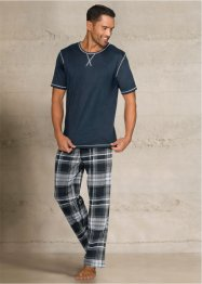 Pyjama, bpc bonprix collection, blauw gemêleerd geruit