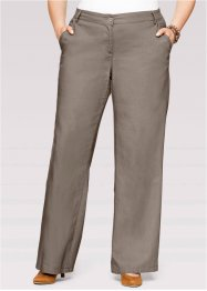 Linnen broek «wijd», bpc bonprix collection, taupe