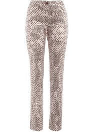 Stretchbroek, bpc selection, taupe/wit