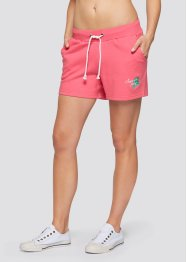 Sweatshort (set van 2), bpc bonprix collection, lichtpink/antraciet gemêleerd