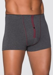 Boxershort (set van 3), bpc bonprix collection, antraciet gemêleerd
