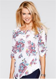 Blouse, bpc bonprix collection, wolwit gebloemd