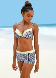 Beugel bikinitop, bpc bonprix collection, zwart/wit gedessineerd