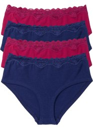 Tailleslip (set van 4), bpc bonprix collection, middernachtblauw/donkerrood