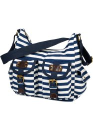 Tas 'Juliane', bpc bonprix collection, donkerblauw/wit gestreept