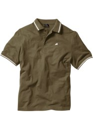 Poloshirt, bpc bonprix collection, donkerolijfgroen