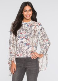 Blouse, BODYFLIRT, wolwit gedessineerd