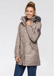 3in1-outdoorjas, bpc bonprix collection, taupe/leisteengrijs