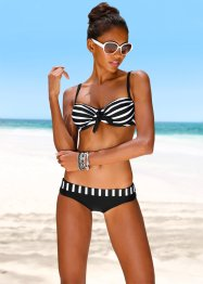 Beugelbikini (2-dlg. set), bpc bonprix collection, zwart/wit