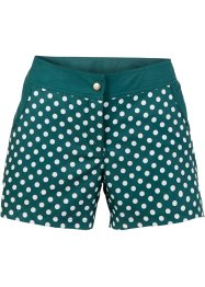 Zwemshort, bpc bonprix collection, petrol/wit