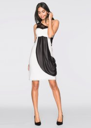 One-shoulder-jurk, BODYFLIRT, crème/zwart