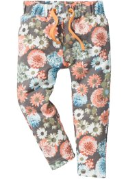 Sweatbroek, bpc bonprix collection, apricot/topaasblauw gedessineerd