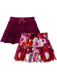 Rok (set van 2), bpc bonprix collection, bessen gebloemd