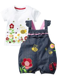 T-shirt+tuinbroek (2-dlg. set), bpc bonprix collection