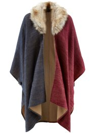 Cape, bpc selection, donkerblauw/ahornrood/cappuccino gedessineerd