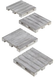 Onderzetters «Pallet» (4-dlg. set), bpc living bonprix collection