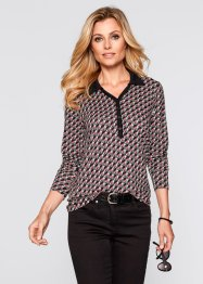 Shirtblouse, bpc selection, grijs/zwart/wit gedessineerd